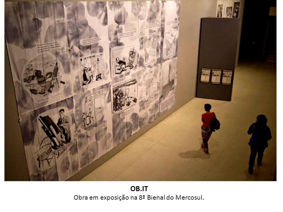 Obra em exposição na 8ª Bienal do Mercosul.
