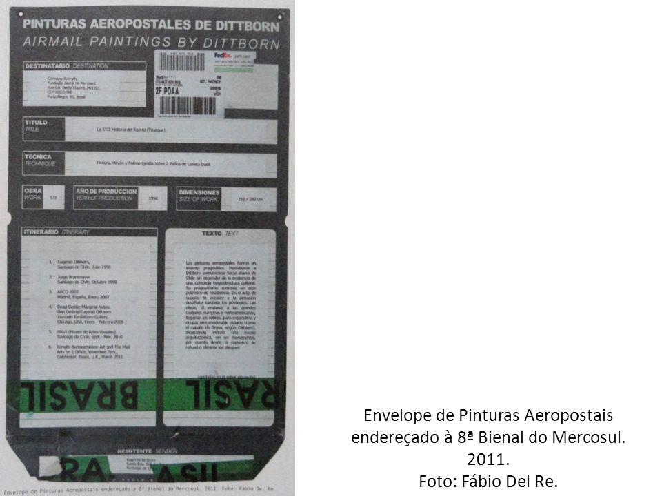 Envelope de Pinturas Aeropostais endereçado à 8ª Bienal do Mercosul.
