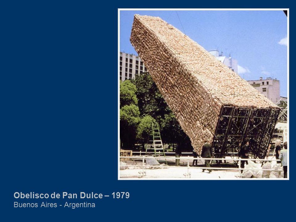 Obelisco de Pan Dulce – 1979 Buenos Aires - Argentina