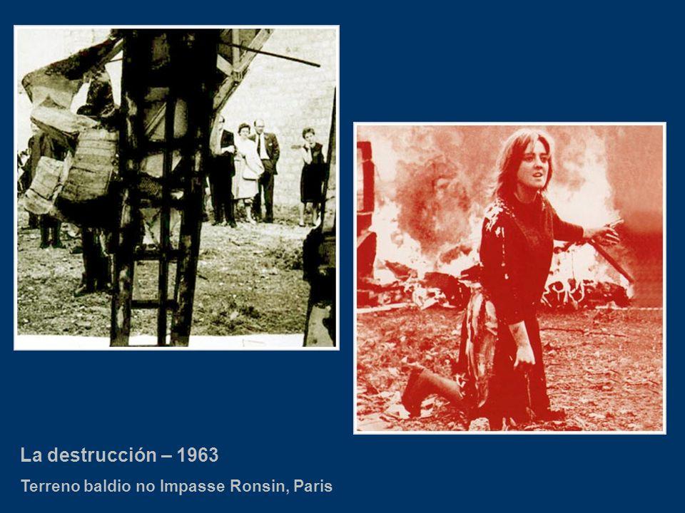 La destrucción – 1963 Terreno baldio no Impasse Ronsin, Paris