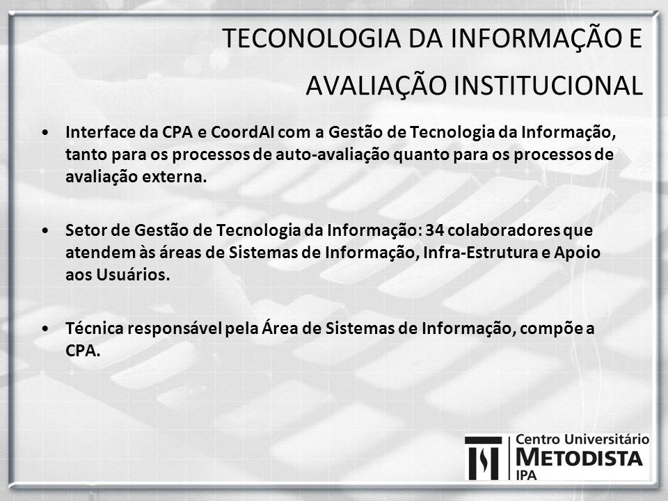 TECONOLOGIA DA INFORMAÇÃO E AVALIAÇÃO INSTITUCIONAL