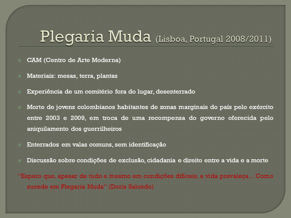 Plegaria Muda (Lisboa, Portugal 2008/2011)