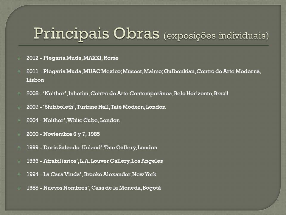 Principais Obras (exposições individuais)