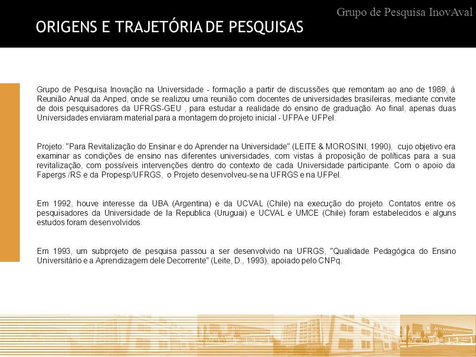 ORIGENS E TRAJETÓRIA DE PESQUISAS