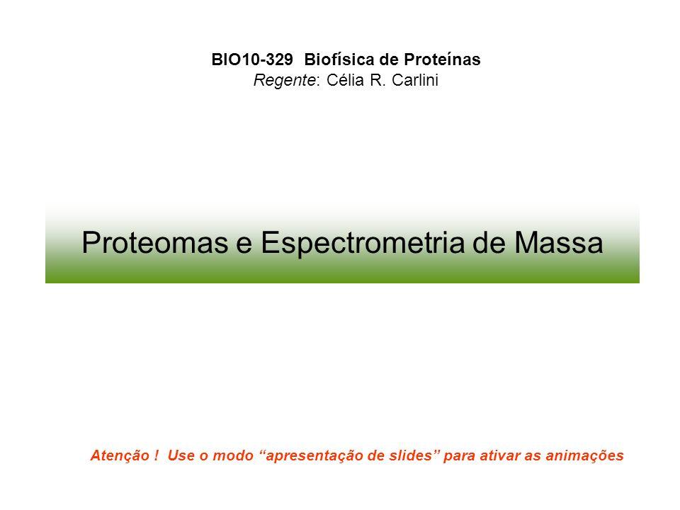 Proteomas e Espectrometria de Massa