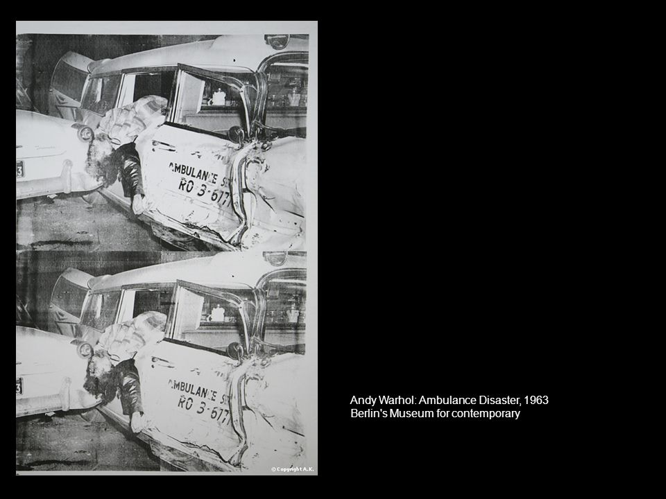 Andy Warhol: Ambulance Disaster, 1963