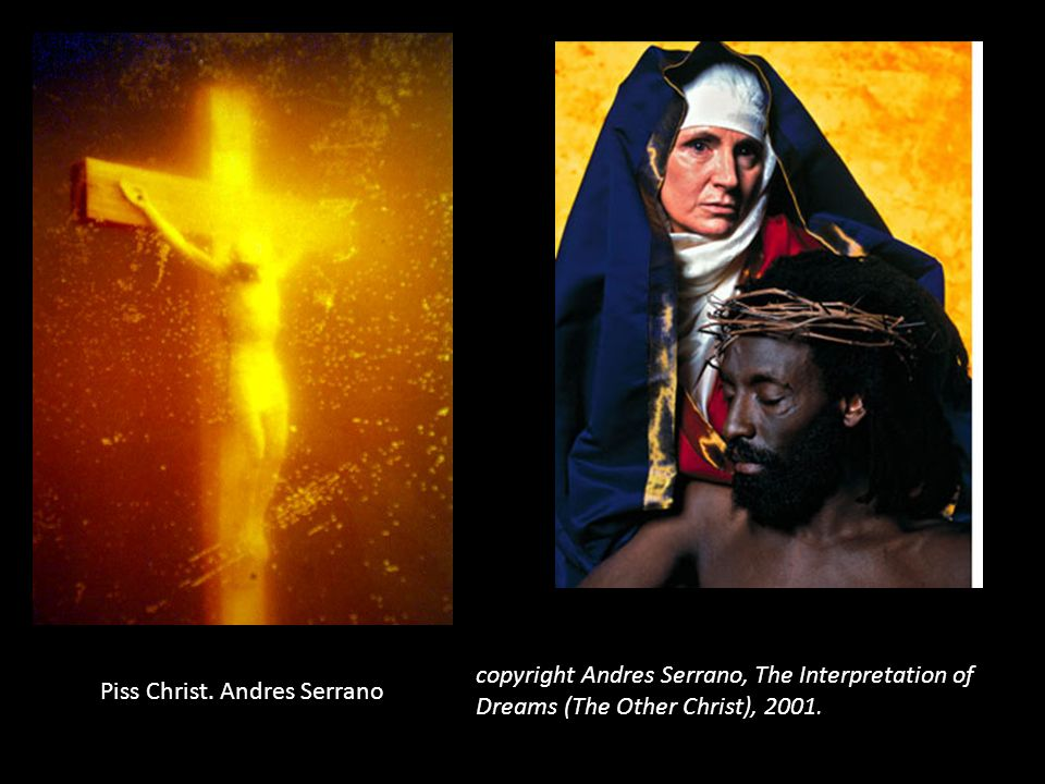 copyright Andres Serrano, The Interpretation of Dreams (The Other Christ), 2001.