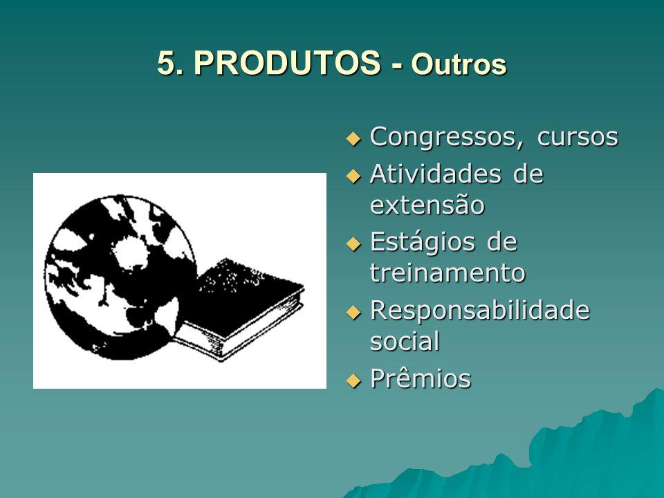 5. PRODUTOS - Outros Congressos, cursos Atividades de extensão