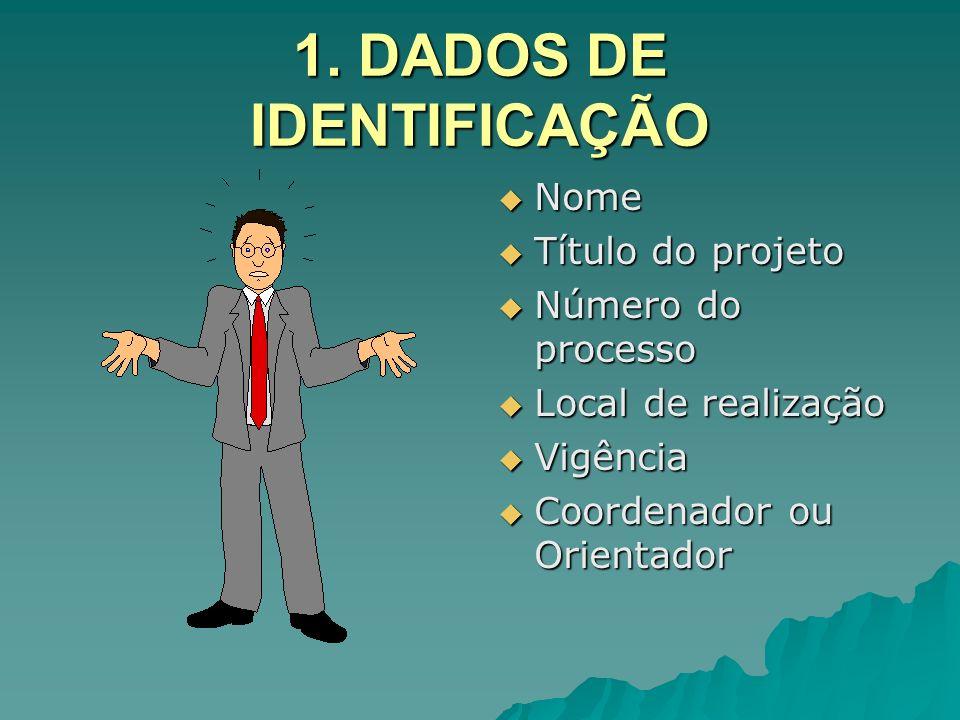 1. DADOS DE IDENTIFICAÇÃO