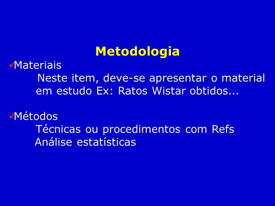 Metodologia Materiais