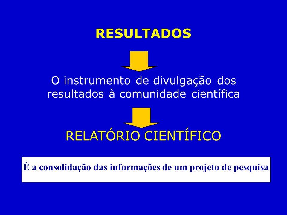É a consolidação das informações de um projeto de pesquisa
