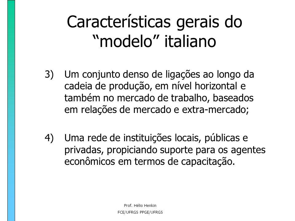 Características gerais do modelo italiano