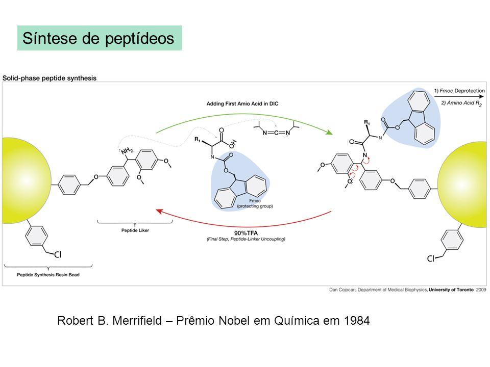 Síntese de peptídeos Robert B. Merrifield – Prêmio Nobel em Química em 1984
