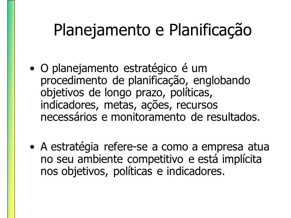 Planejamento e Planificação