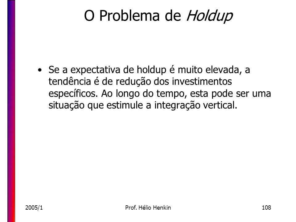 O Problema de Holdup