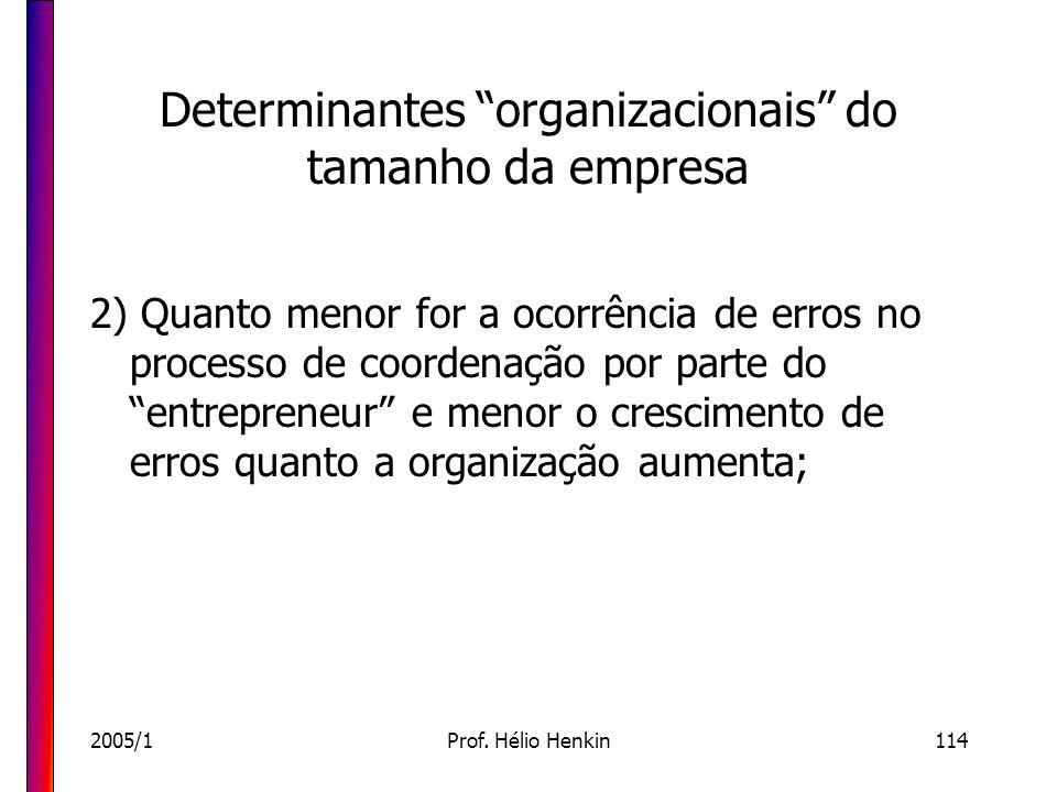 Determinantes organizacionais do tamanho da empresa
