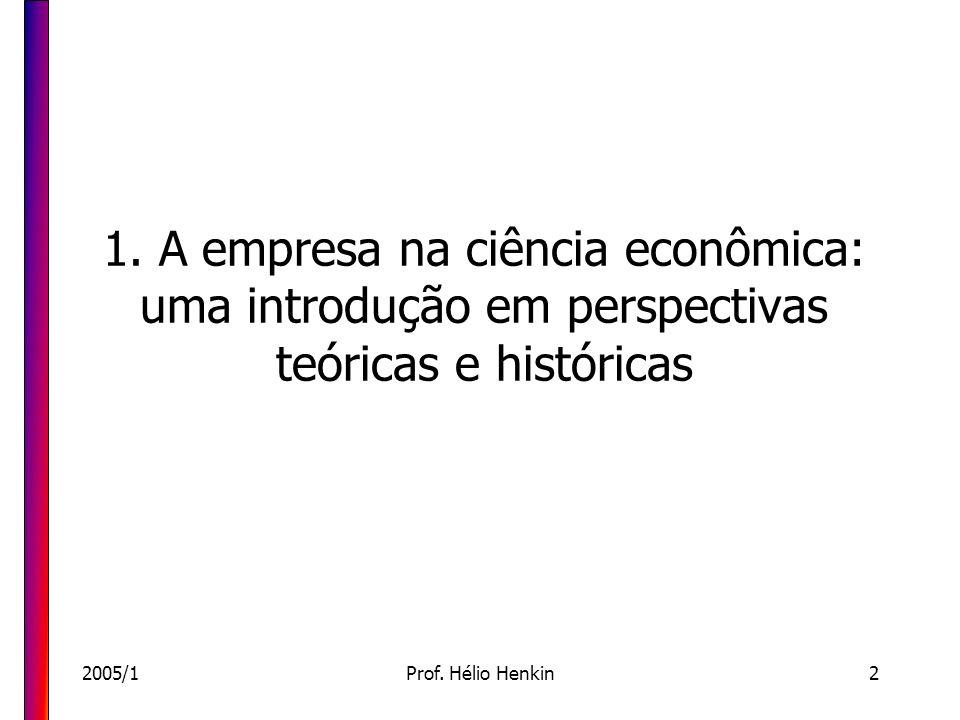 1. A empresa na ciência econômica: uma introdução em perspectivas teóricas e históricas