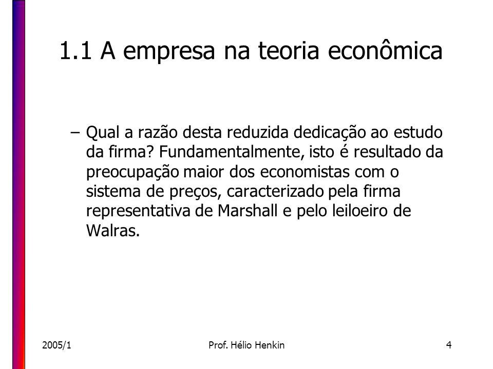 1.1 A empresa na teoria econômica