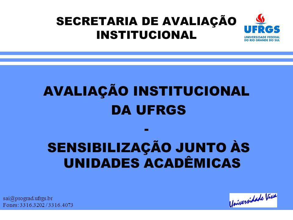 SECRETARIA DE AVALIAÇÃO INSTITUCIONAL