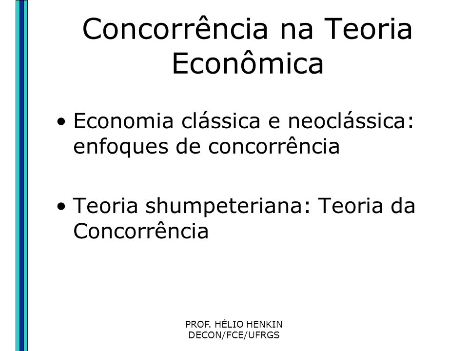 Concorrência na Teoria Econômica