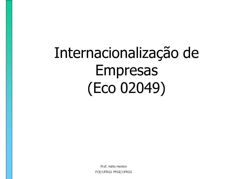 Internacionalização de Empresas (Eco 02049)