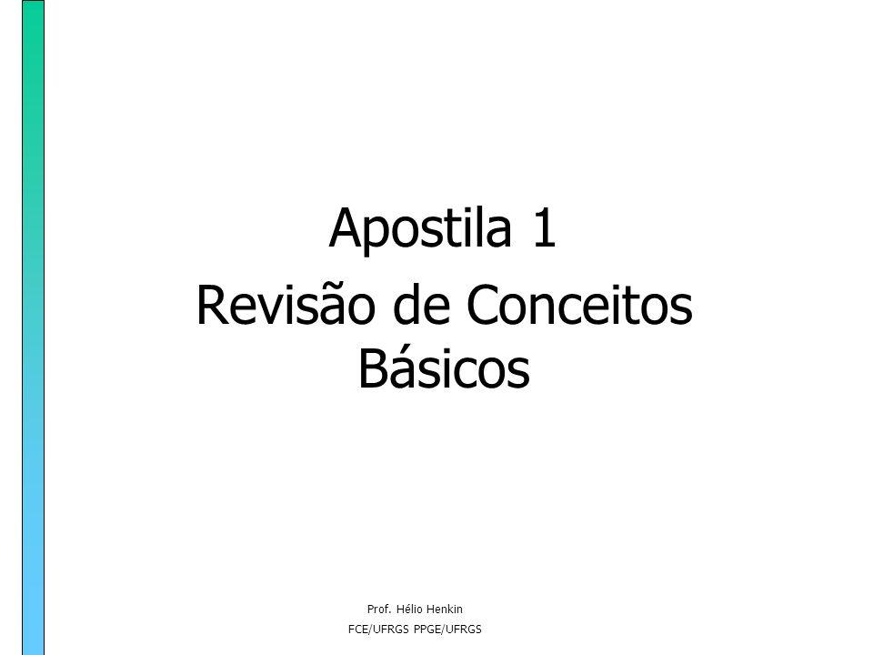 Apostila 1 Revisão de Conceitos Básicos