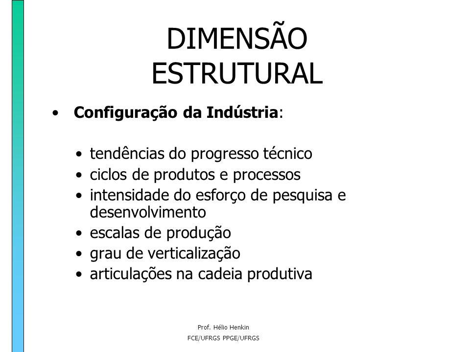 DIMENSÃO ESTRUTURAL Configuração da Indústria: