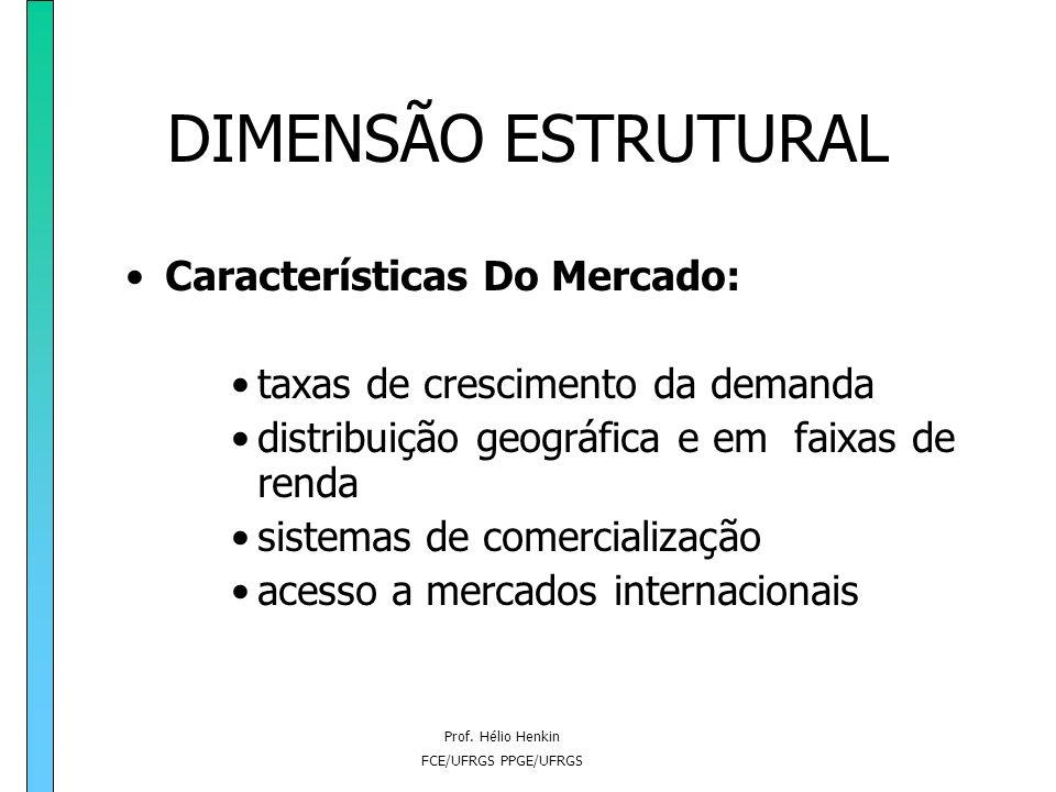 DIMENSÃO ESTRUTURAL Características Do Mercado: