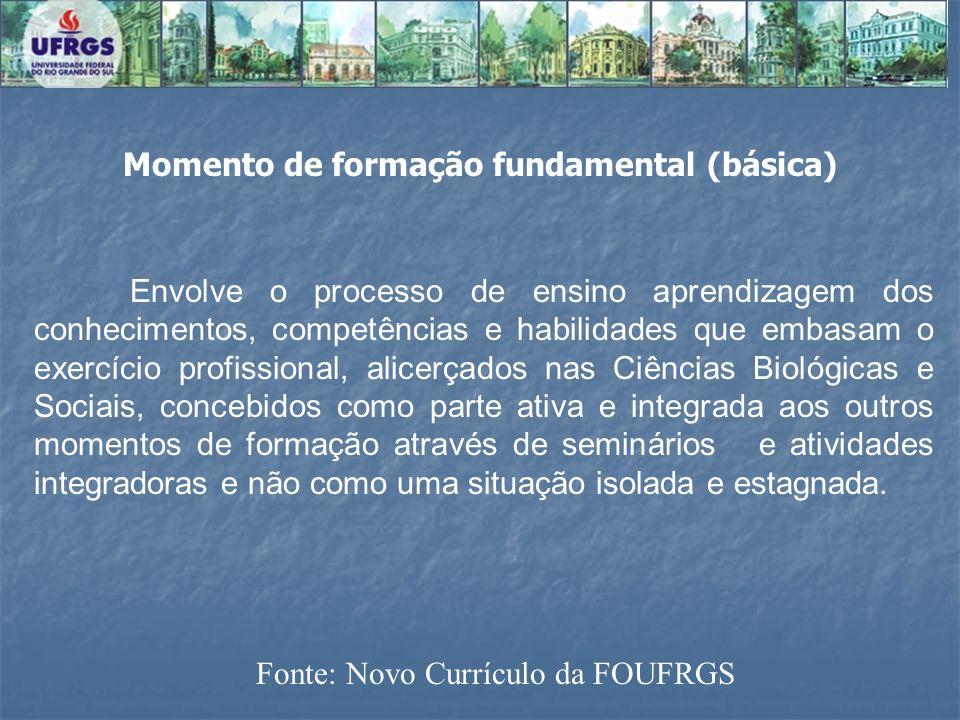 Momento de formação fundamental (básica)