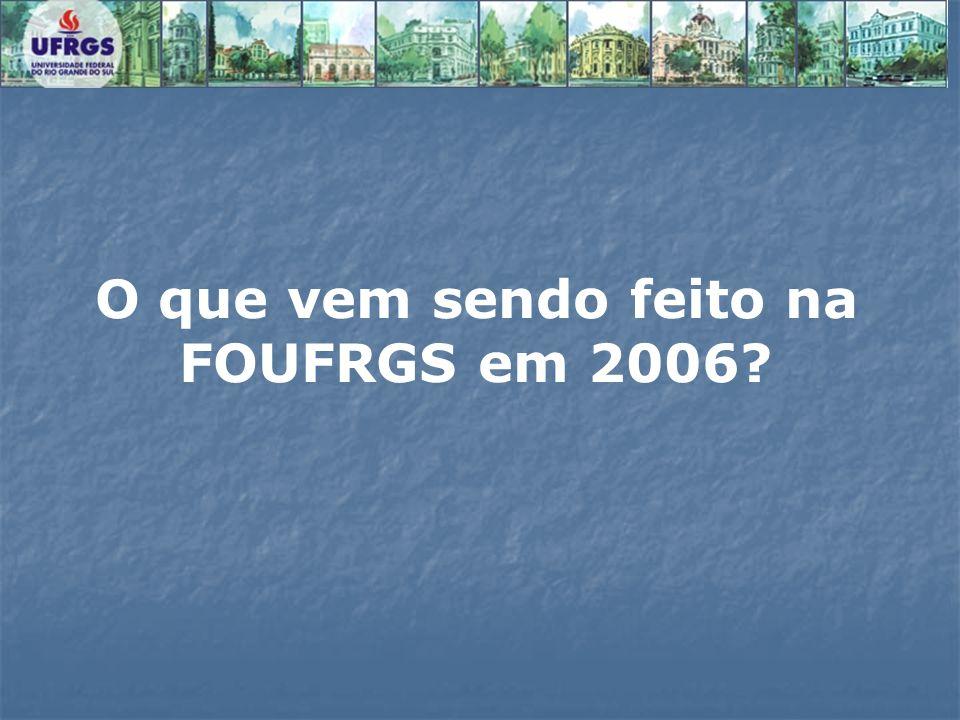 O que vem sendo feito na FOUFRGS em 2006