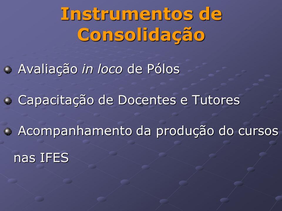 Instrumentos de Consolidação