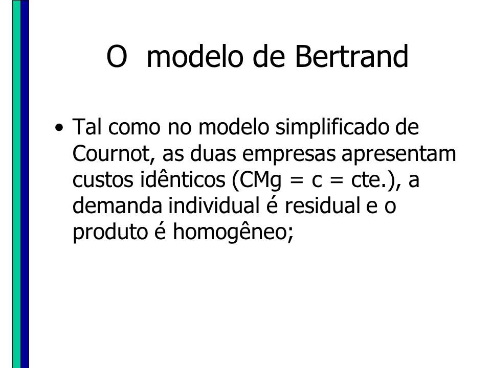 O modelo de Bertrand