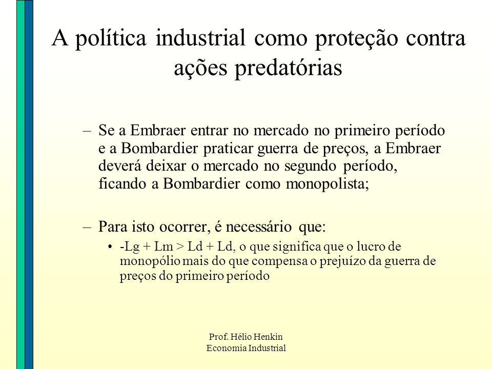 A política industrial como proteção contra ações predatórias