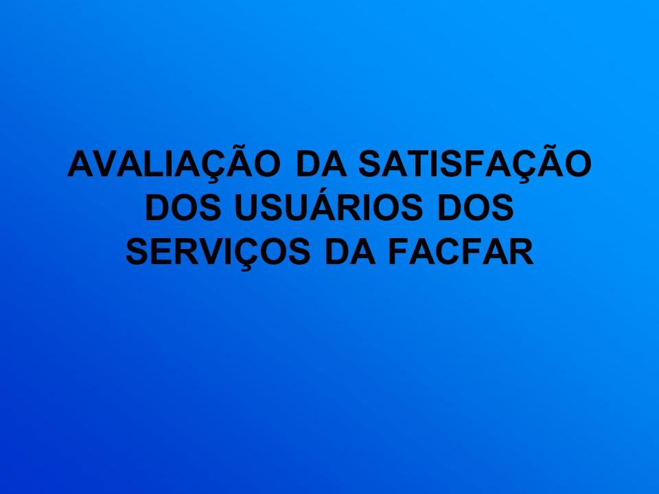 AVALIAÇÃO DA SATISFAÇÃO DOS USUÁRIOS DOS SERVIÇOS DA FACFAR