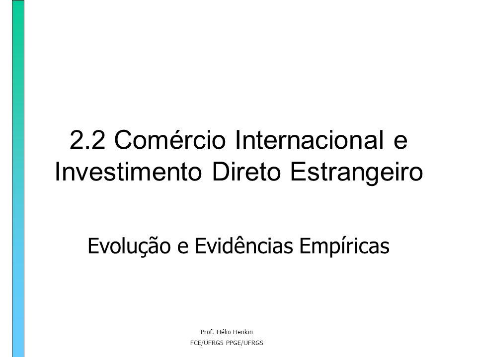 2.2 Comércio Internacional e Investimento Direto Estrangeiro
