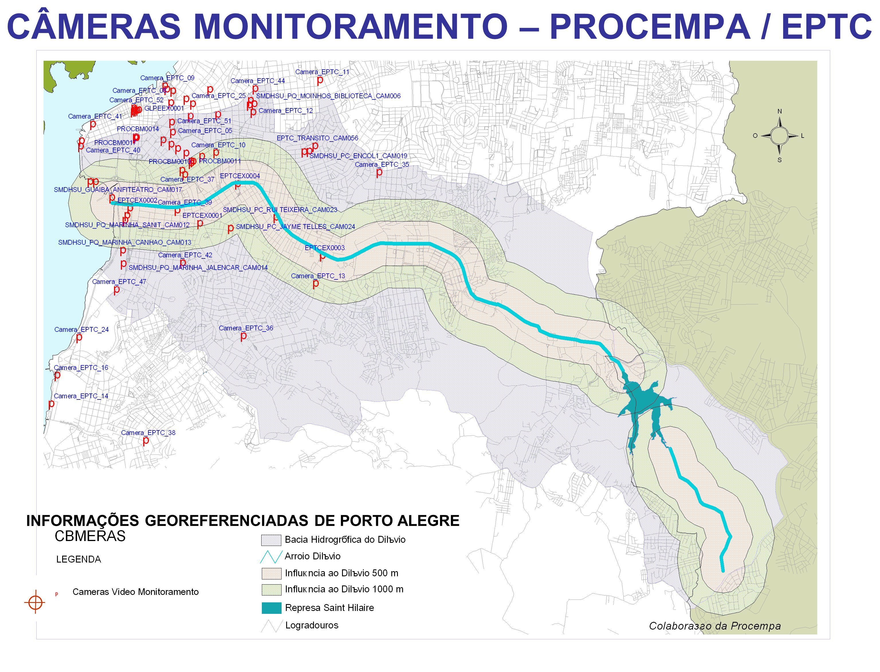 CÂMERAS MONITORAMENTO – PROCEMPA / EPTC