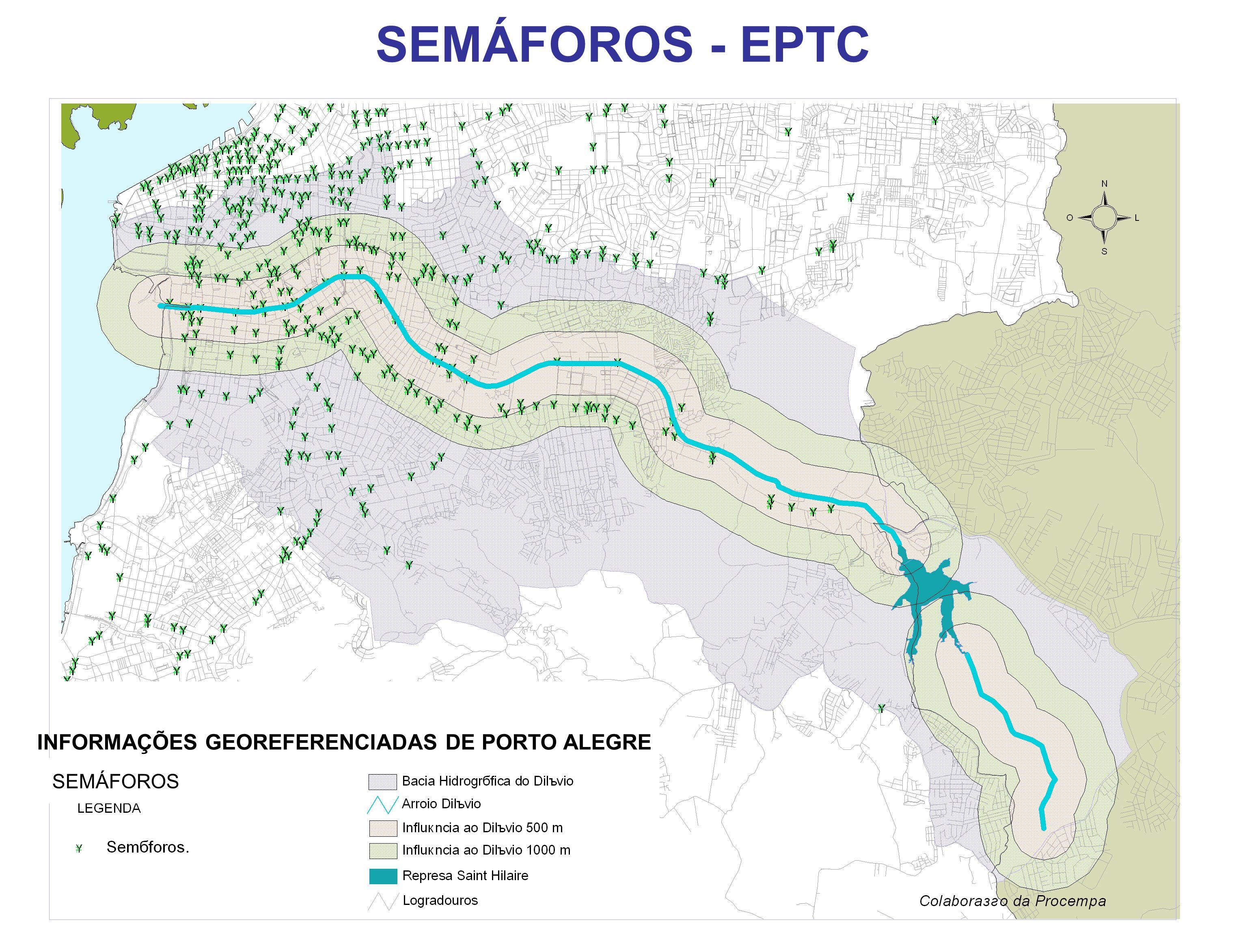 SEMÁFOROS - EPTC INFORMAÇÕES GEOREFERENCIADAS DE PORTO ALEGRE