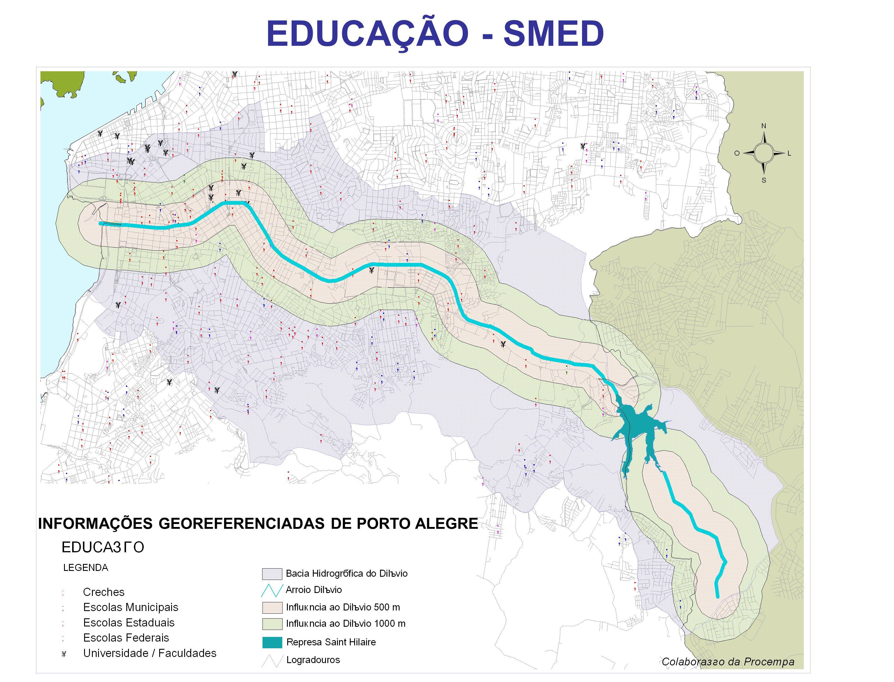 EDUCAÇÃO - SMED INFORMAÇÕES GEOREFERENCIADAS DE PORTO ALEGRE