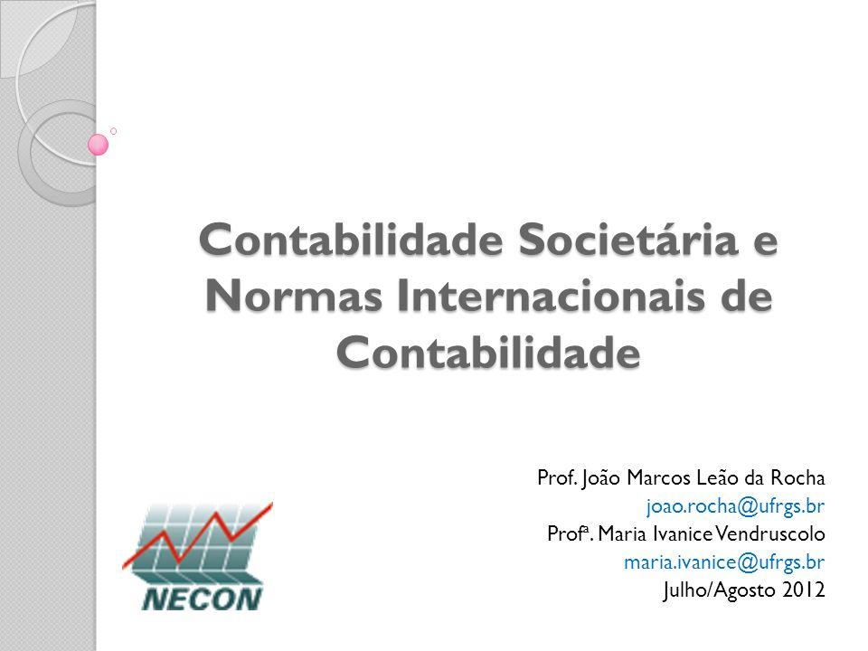 Contabilidade Societária e Normas Internacionais de Contabilidade