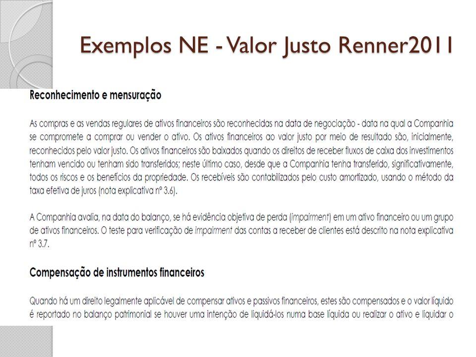 Exemplos NE - Valor Justo Renner2011