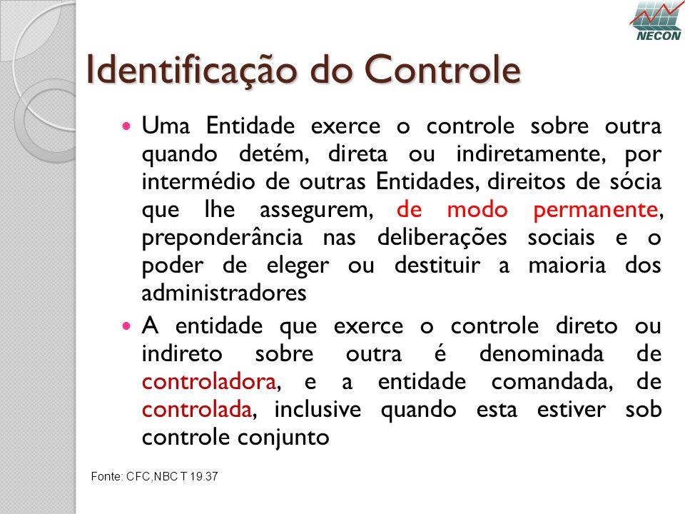 Identificação do Controle