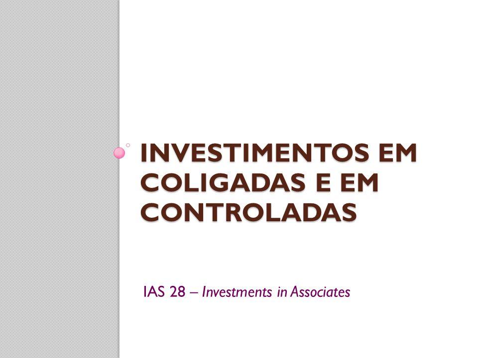 investimentos em coligadas e em controladas