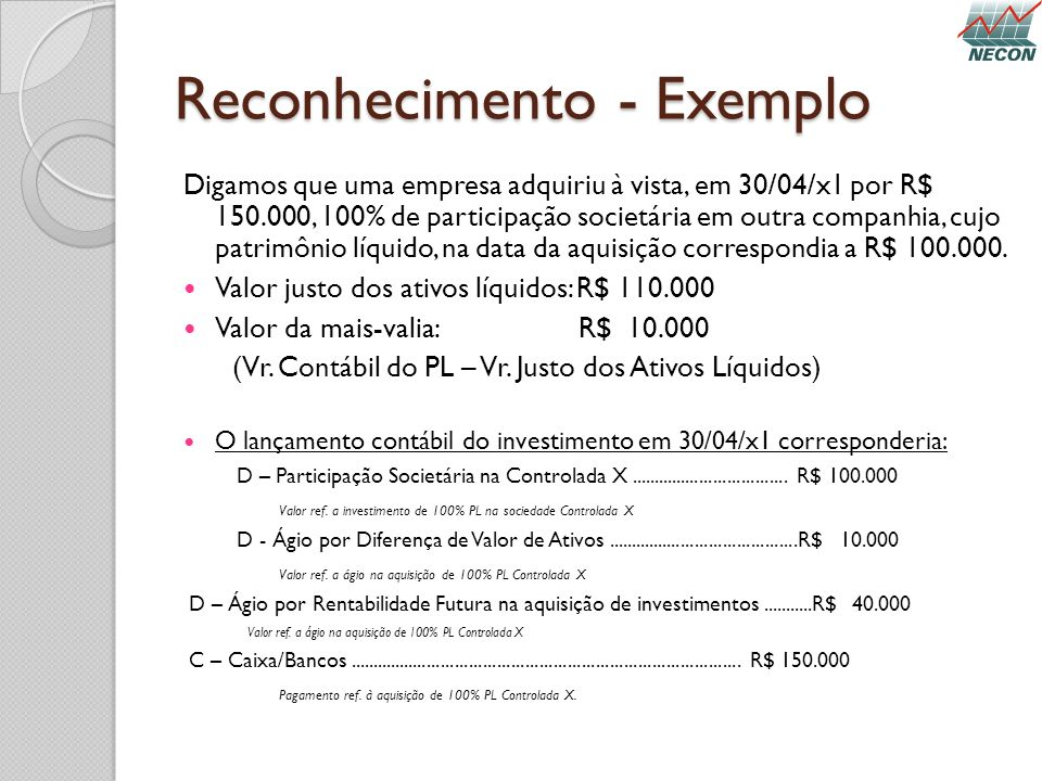 Reconhecimento - Exemplo