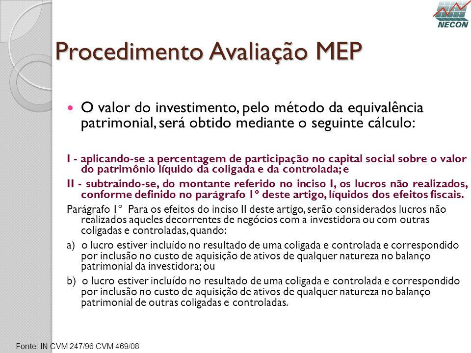 Procedimento Avaliação MEP