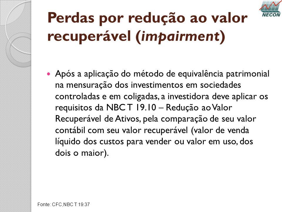 Perdas por redução ao valor recuperável (impairment)