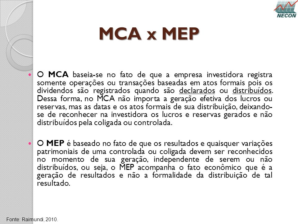 MCA x MEP