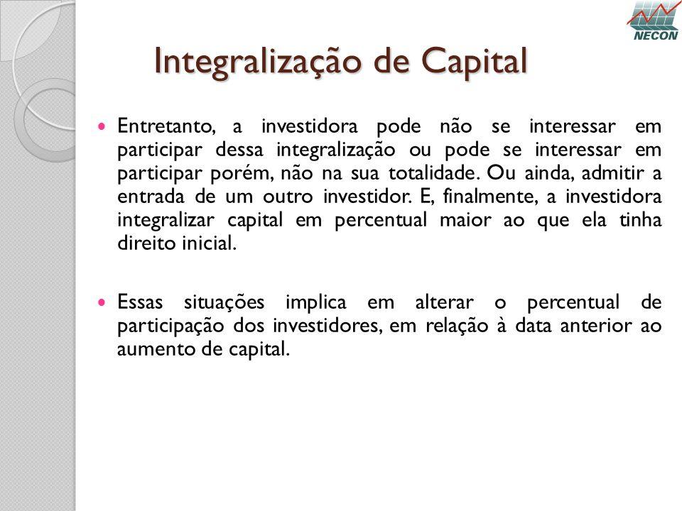 Integralização de Capital