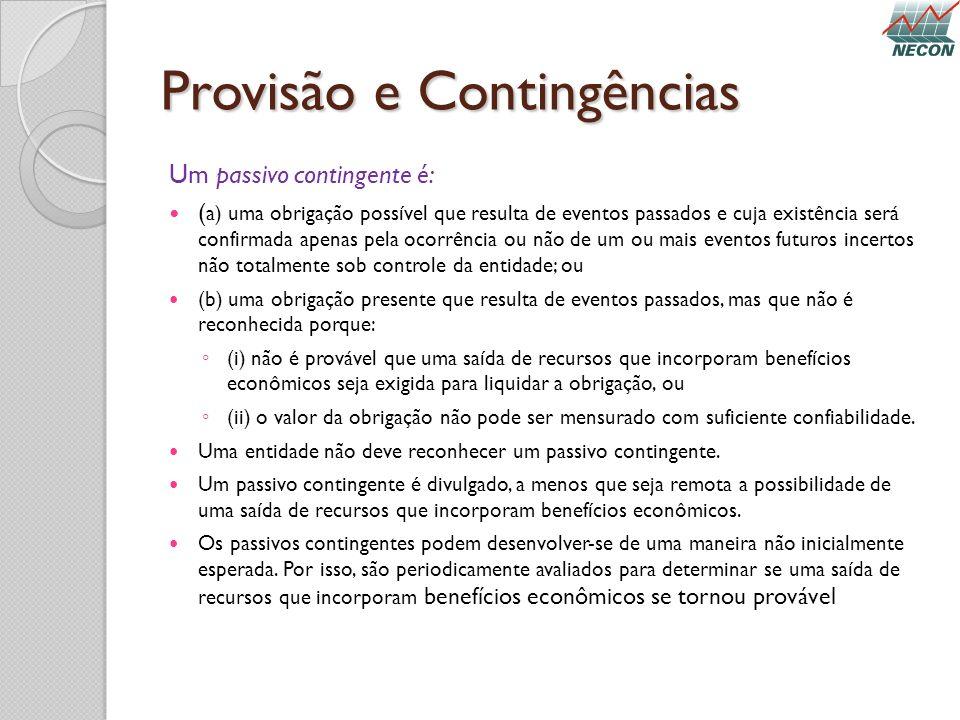 Provisão e Contingências