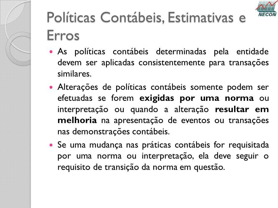 Políticas Contábeis, Estimativas e Erros