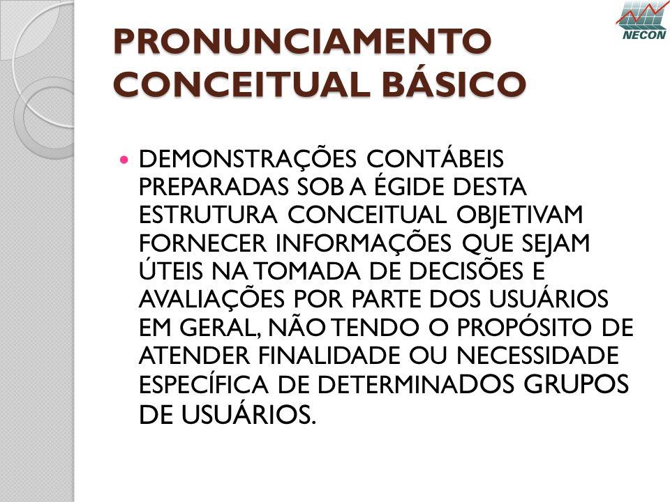 PRONUNCIAMENTO CONCEITUAL BÁSICO